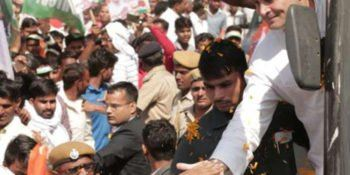RAHUL GANDHI TAKES OUT ROAD SHOW IN RAJASTHAN, CM'S HOME