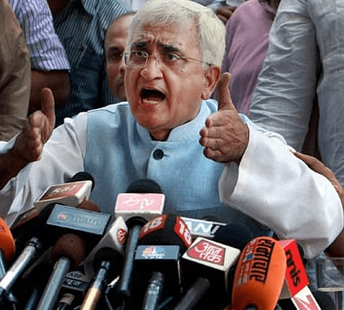 Amid reports that the SP and the BSP might leave the Congress - Salman Khurshid
