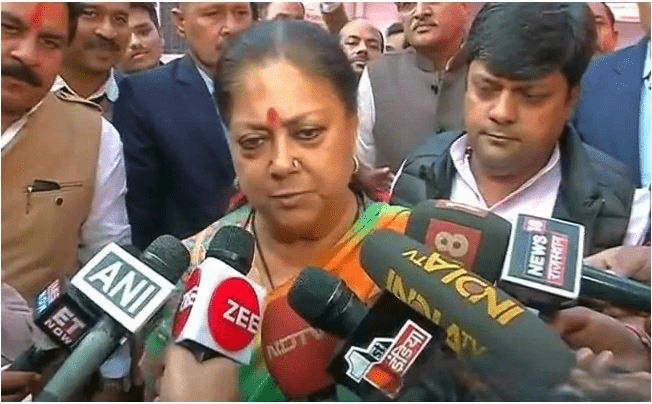Election Panel Should Act: Vasundhara Raje On Sharad Yadav's Body-Shaming