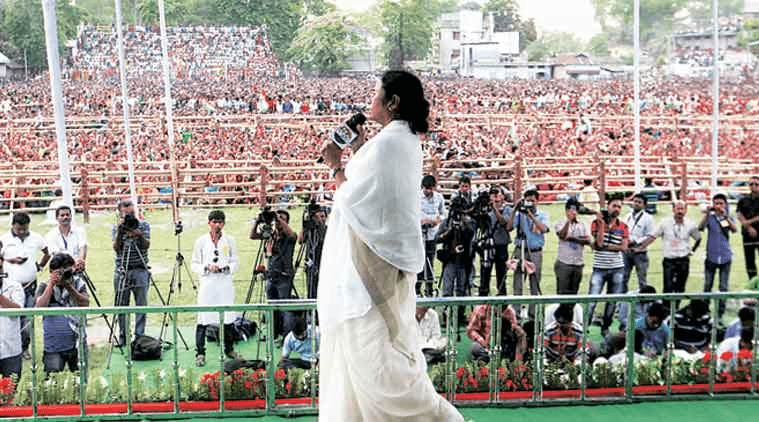 Mamata's war cry at opposition rally and said about Delhi government