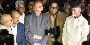 Oposition delegation to election commission : demanding 50% of matching EVM's