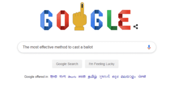 Google Doodle marks Lok Sabha Election stage IV