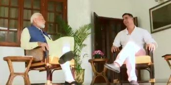 Having a wonderful conversation with Akshay Kumar:PM Modi