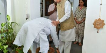 PM Modi meets BJP pioneer Murli Manohar Joshi and LK Advani