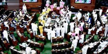 PROTEST, WALKOUT IN LOWER HOUSE